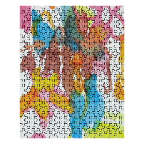 Bright Watercolor Flowers Jigsaw Puzzle