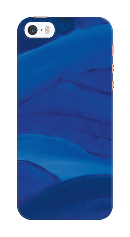 Blue Brushstrokes Phone Case
