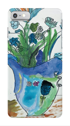 Blue Vase & Flowers Phone Case