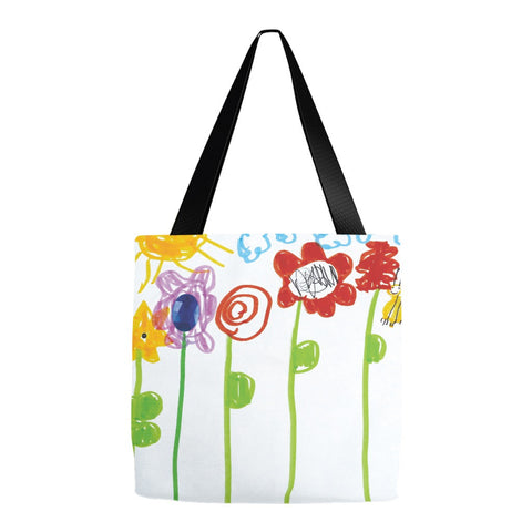 Bumble Bee Flowers Tote Bag