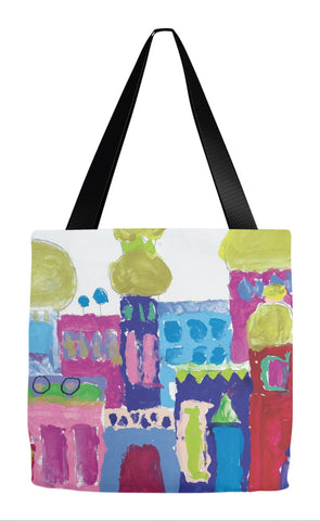 Bright Building Tote Bag