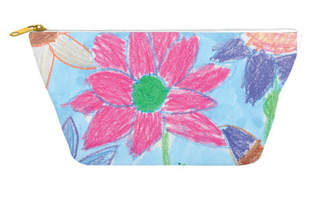 Crayon Flower Accessory Pouch