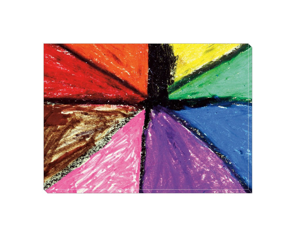 Rainbow Palette Wrapped Canvas