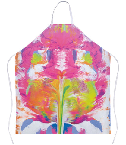 Pink Abstract Apron