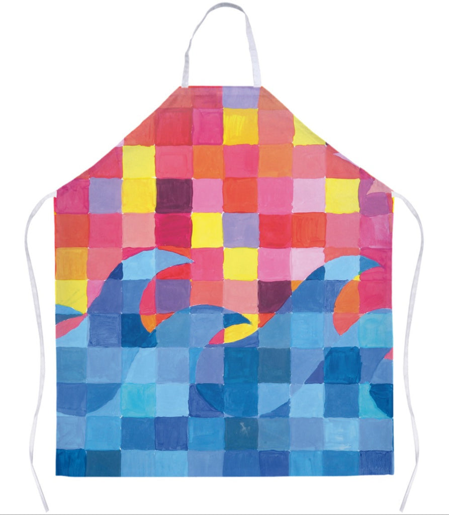 Sunset Wave Grid Apron
