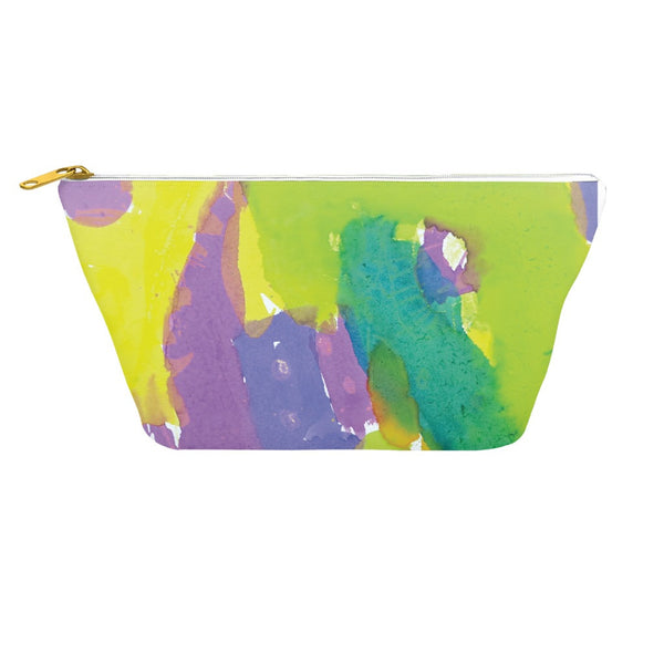 Yellow & Purple Abstract Accessory Pouch
