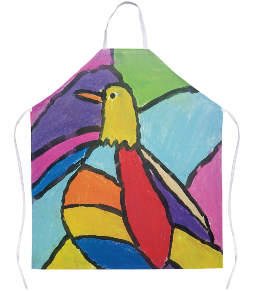 Colorful Bird Apron