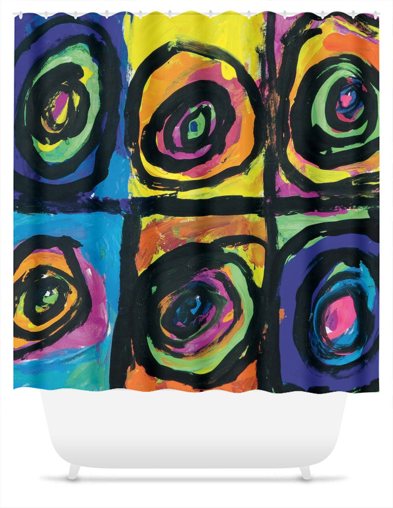 Bright Circles Shower Curtain