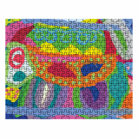 Abstract Glitter Animal Jigsaw Puzzle