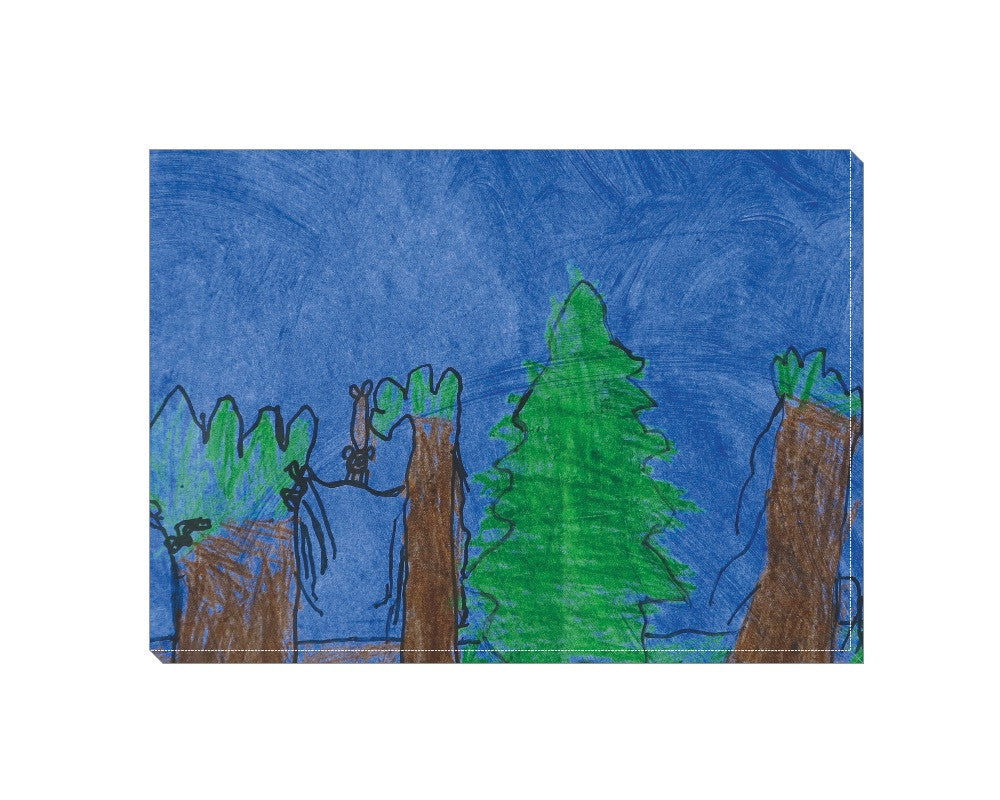 Forest Scene Wrapped Canvas