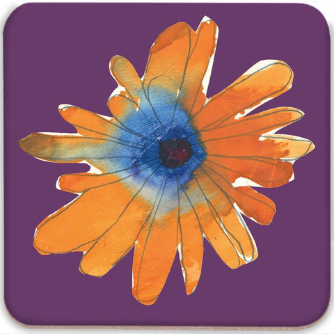 Orange Flower Coasters