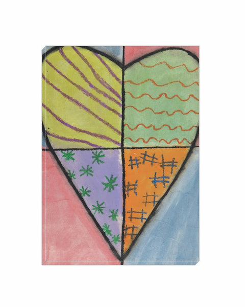 Quadrant Heart Wrapped Canvas