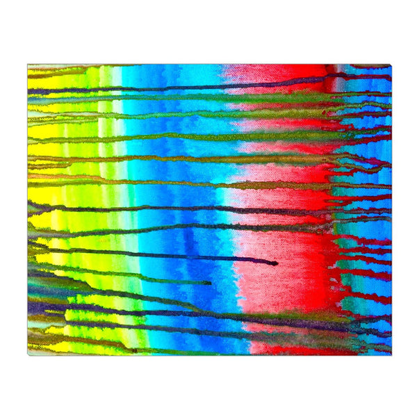 Colorful Icicle Abstract Wrapped Canvas