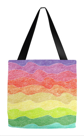 Crayon Waves Tote Bag