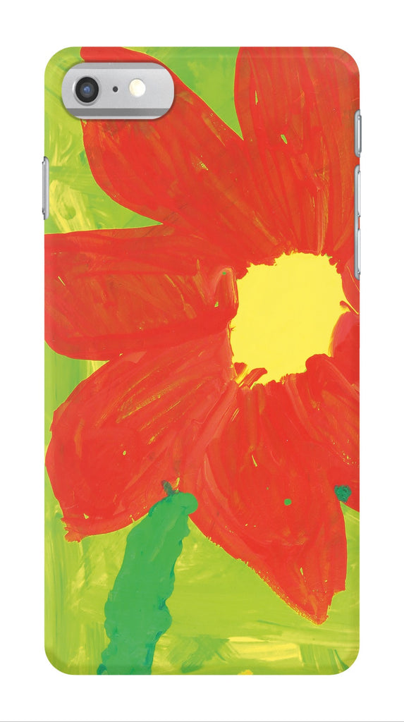 Green & Orange Flower Phone Case
