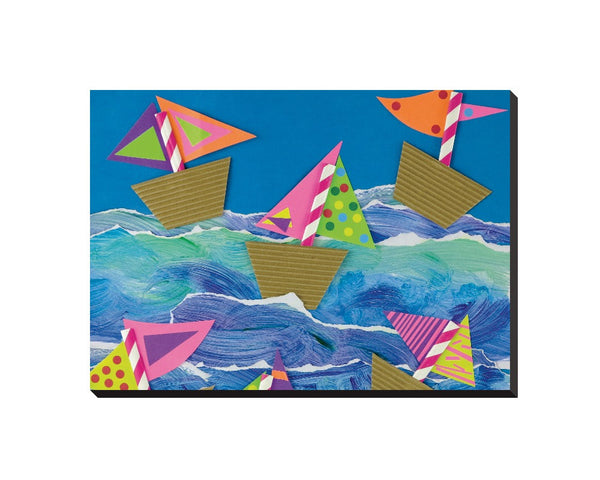 Boats Wrapped Canvas