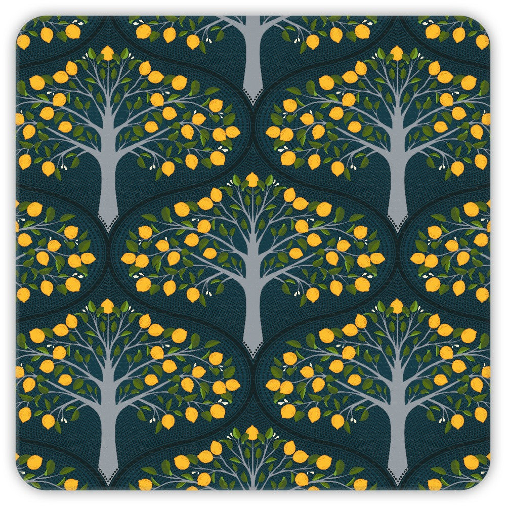 Midnight Lemon Trees Coasters