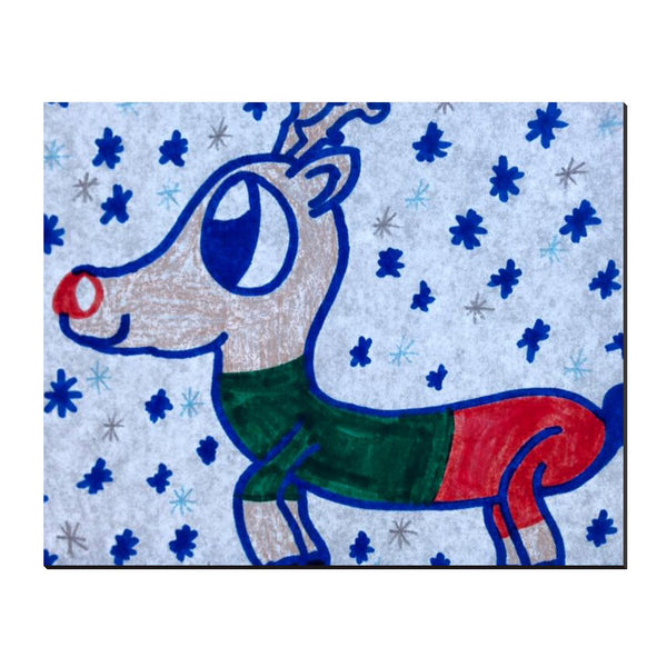 Reindeer Wrapped Canvas