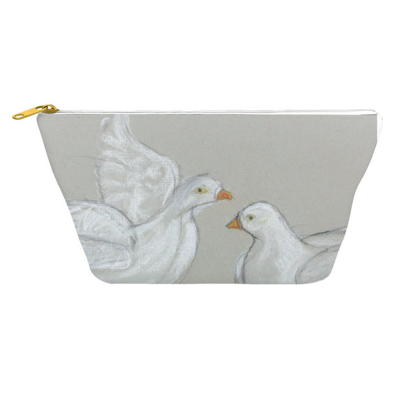 White Birds Accessory Pouch