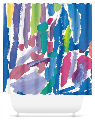 Abstract 3 Shower Curtain