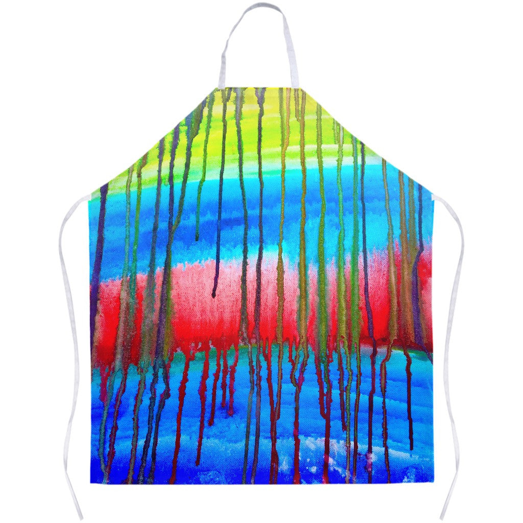 Colorful Icicle Abstract Apron