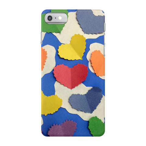 Colorful Cutout Hearts Phone Case