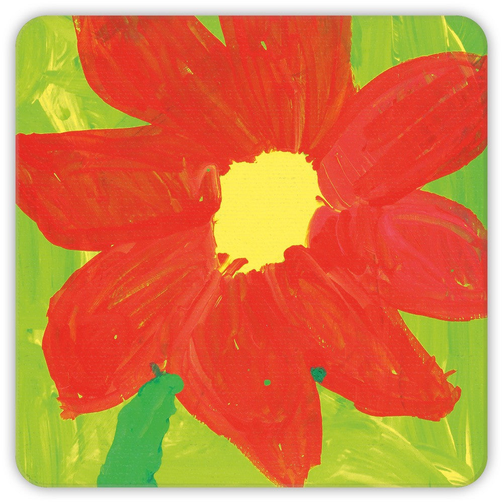 Green & Orange Flower Coasters