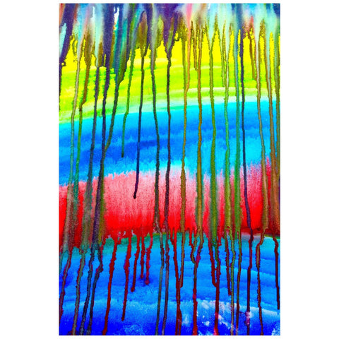 Colorful Icicle Abstract Desktop Canvas