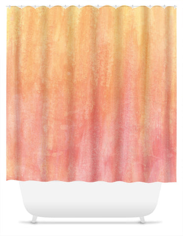 Orange Abstract Shower Curtain