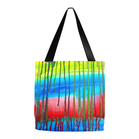 Colorful Icicle Abstract Tote Bag