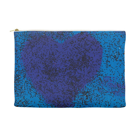 Blue Heart Accessory Pouch