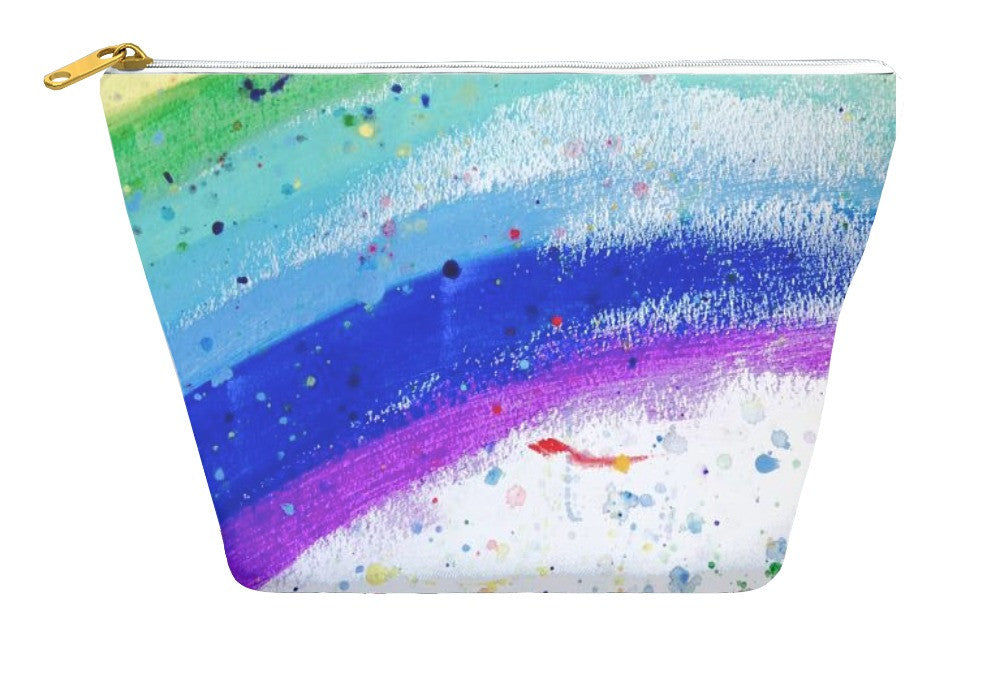 Bright Rainbow Accessory Pouch