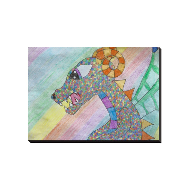 Colorful Dragon Wrapped Canvas