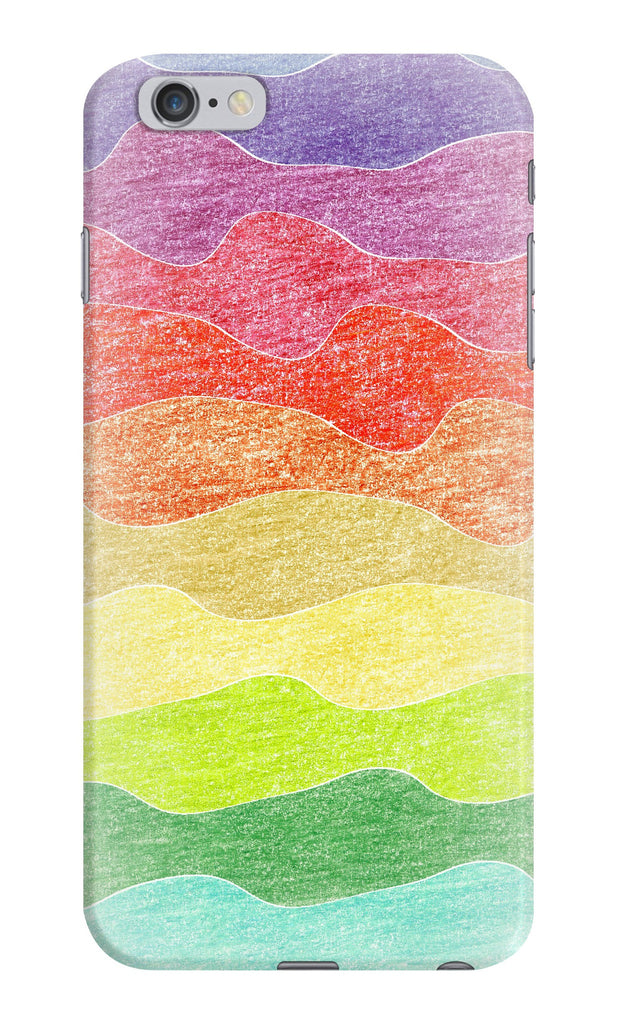 Crayon Waves Phone Case