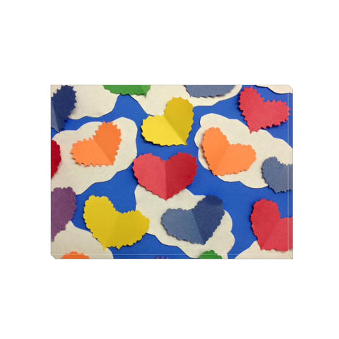 Colorful Cutout Hearts Wrapped Canvas