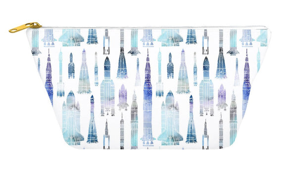 Watercolour Rockets Accessory Pouch