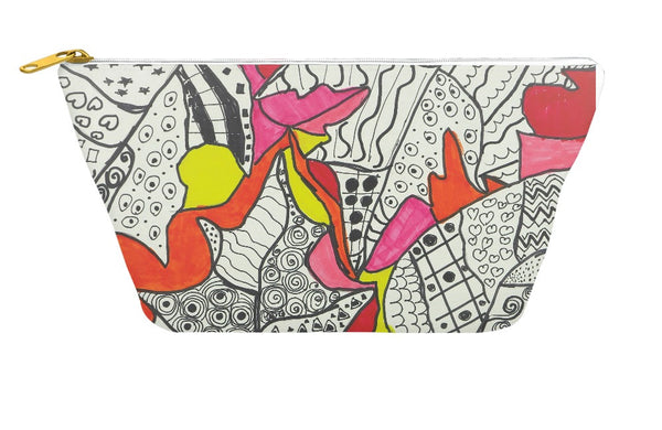 Leaf Design Accessory Pouch