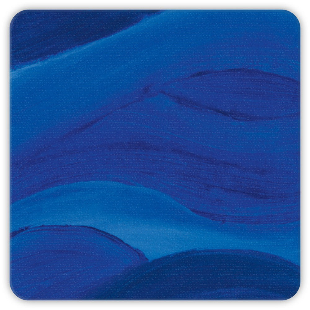 Blue Brushstrokes Coasters