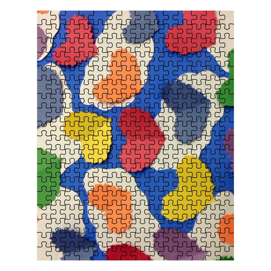 Colorful Cutout Hearts Jigsaw Puzzle