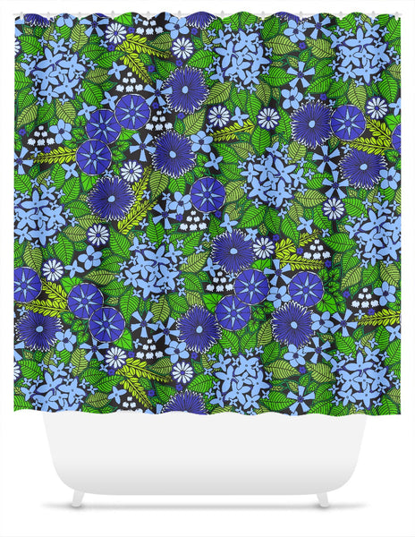 Wallflowers Shower Curtain
