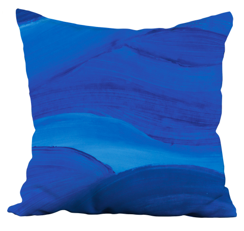 Blue Brushstrokes Pillow