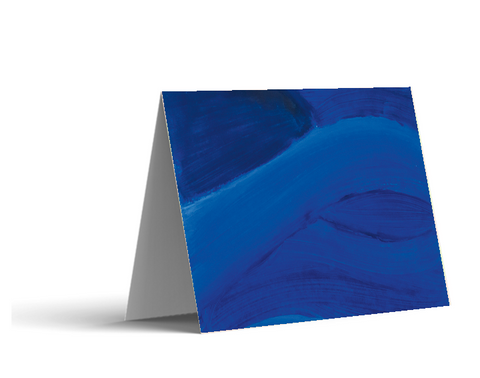 Blue Brushstrokes Note Cards
