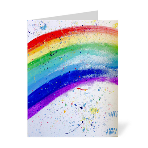 Bright Rainbow Note Cards