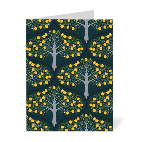 Midnight Lemon Trees Note Cards