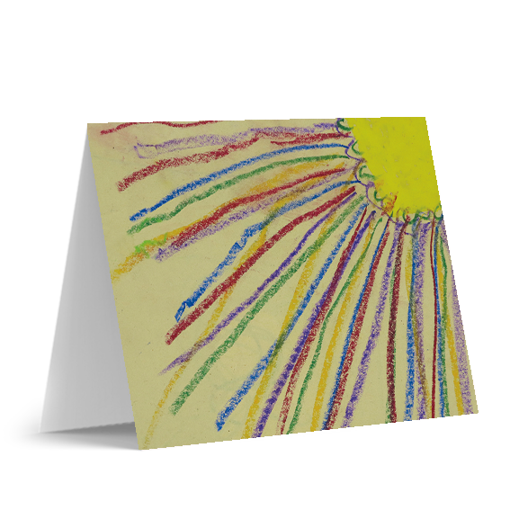 Colorful Sun Note Cards