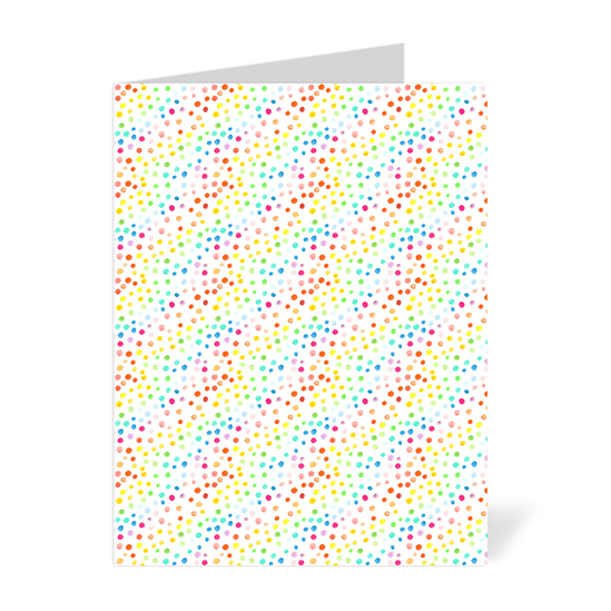 Rainbow Dots Note Cards