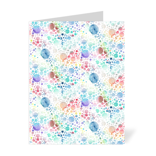 Space Bubbles Note Cards