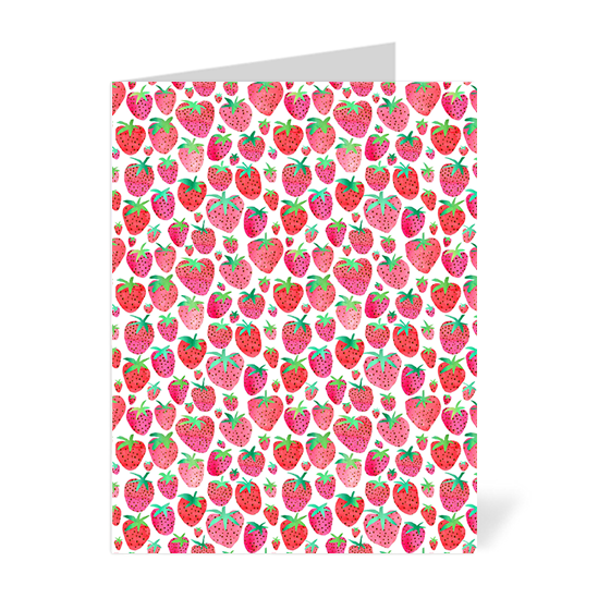 Strawberries Note Cards