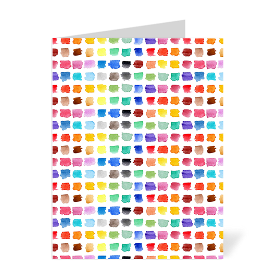 Watercolour Palette Note Cards