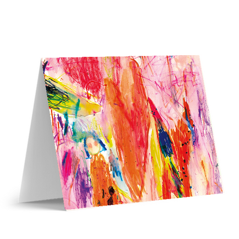 Abstract Heart Note Cards